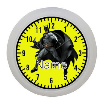 Personalized Wall clock inspired by Batman