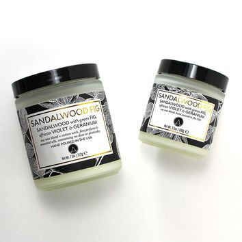 Sandalwood Fig Scented Soy Jar Candles