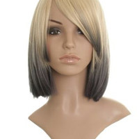 """13"""" Shoulder Length Straight Bob Synthetic Wigs for Women Colorful"""