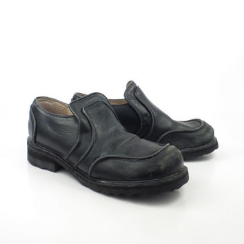 John Fluevog Shoes Vintage 1990 Black Leather F Uk Size 7 Women's Us size 9