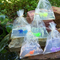 Fish in a Bag Soap 4 oz - Fun Kids Hand or Bath Soap - Birthday Party Favor, Boys Girls Children, Goldfish Soap