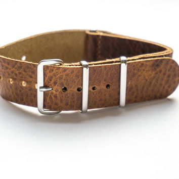 LEATHER NATO STRAP SAFARI VINTAGE