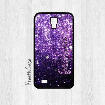 Monogrammed Galaxy S4 Case, Samsung S4 Case, Glitter Phone Case, Personalized Phone Cover - K197