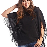 Crochet Trim Poncho | Wet Seal+