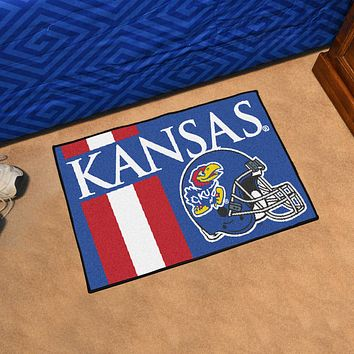 "Kansas Uniform Starter Rug 19""x30"""