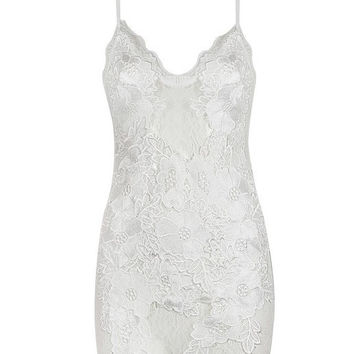 Jessie White Crochet Lace Mini Dress