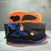 NIKE AIR JORDAN High Tops Contrast Sports shoes Black-Sapphire-Orange G-A36H-MY