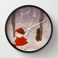 Little Red Riding Hood Wall Clock by Francesca B.