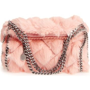 Stella McCartney 'Mini Falabella' Quilted Faux Fur Tote | Nordstrom