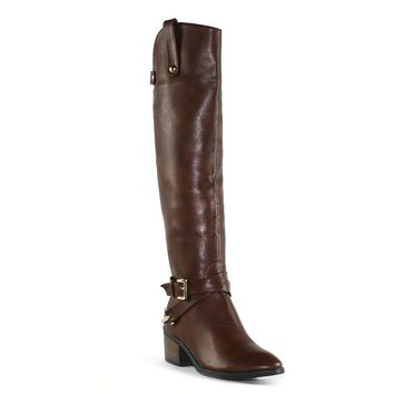 Olivia Miller Cabrini Women's Knee-High Riding Boots (Brown)