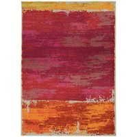 Faded Abstract Orange/ Pink Area Rug (9'9 x 12'2) | Overstock.com Shopping - The Best Deals on 7x9 - 10x14 Rugs