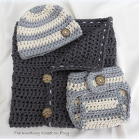 Newborn Wrap - Blanket Pattern - Cocoon with ribbons