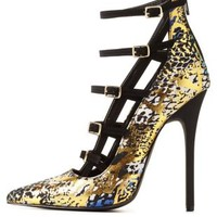 Privileged for CR Metallic Animal Print Pumps