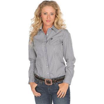 Women's Cinch Blue Stripe Shirt
