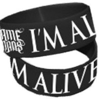 WE CAME AS ROMANS - I'm Alive - Black Rubber Wristband