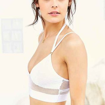 Silence + Noise Mesh Underwire Bra Top- White