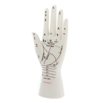 Hand of Astrology Ceramic Ring Holder