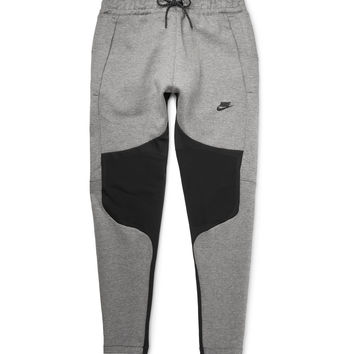 Nike - Tapered Panelled Cotton-Blend Tech Fleece Sweatpants