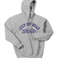 All Things Jeep - Jeep Off Road Adventures Hooded Sweatshirt in Sport Gray