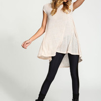 IVORY SWEATER KNIT TUNIC TOP