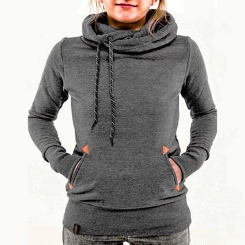 Fashion embroidery hooded sweater-5
