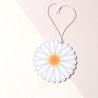 Daisy White Car Air Freshener