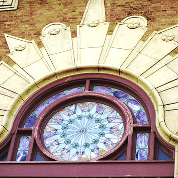 Stained Glass Window Architecture Detail