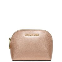 Cindy Metallic Saffiano Leather Pouch | Michael Kors