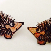 hog love: handmade post earrings