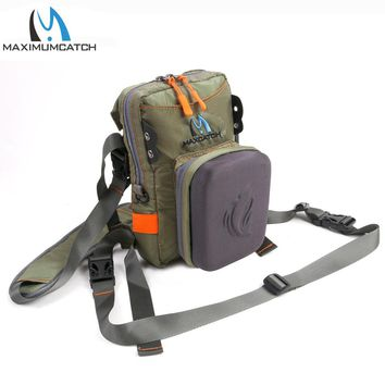 Maximumcatch Fly Fishing Chest Bag With Molded Fly Bench Fishing Tackle Pack