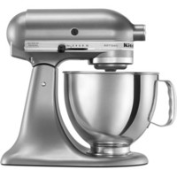 Shop KitchenAid Artisan 5-Quart 10-Speed Contour Silver Stand Mixer at Lowe's