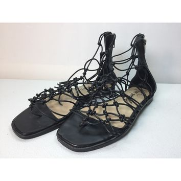 e299f1db7e6 Free People Black Forget Me Knot Gladiator Sandal