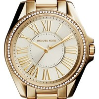 Women's Michael Kors 'Kacie' Crystal Bezel Bracelet Watch, 39mm