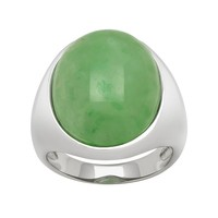 Jade Sterling Silver Ring (Green)
