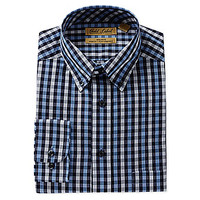 Gold Label Roundtree & Yorke Big and Tall Button-Down Collar Long-Slee