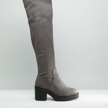 New Look Wide Fit Over The Knee Boots at asos.com