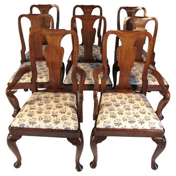 Queen  Anne-Style  Chairs,  Set of 8