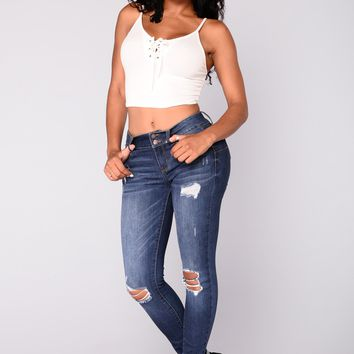 Kill The Scene Booty Shaping Jeans - Dark Denim