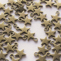 Star Bronze Charm Tibetan Medium Supplies Jewelry Findings Necklace Pendant Charms Bracelet Stars