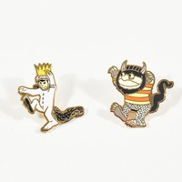 Gold Where The Wild Things Are Enamel Pin Set