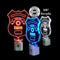 Personalized Policeman Badge LED Night Light
