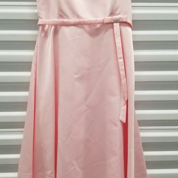 CLEARANCE - Short Cute Pink Knee Length Strapless Dress (Size XL)