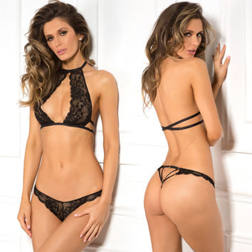 Rene Rofe Female AM 3Pc Body Chain Choker-Bra Set 532137