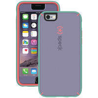 SPECK 74082-5195 iPhone(R) 6 Plus/6s Plus MightyShell(TM) Case + Faceplate (Heather Purple/Warning Orange/Aloe Green)