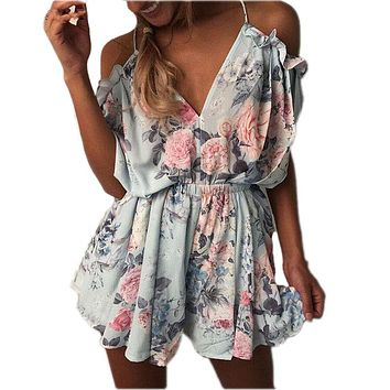 Summer jumpsuit 2017 bodysuit overalls female sexy V-neck rompers womens jumpsuit for women romper playsuit combinaison femme