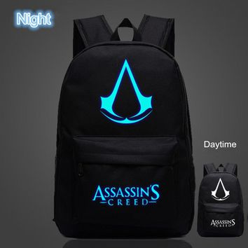 OZUKO Famous Brand High Quality Lumious Assassins Creed Backpack Hot Game Boy Girl School Bags For Teenagers Oxford Backpacks