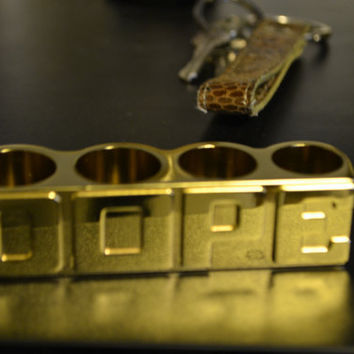 DOPE Gold 4-Finger Ring One Size Fits All 2chainz teyana taylor Kid Ink Ysl pin McM pin brooch vintage