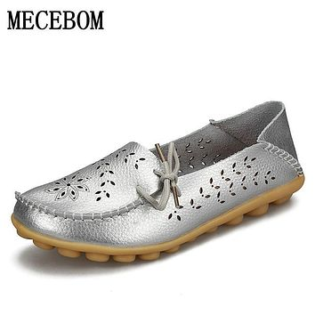 Spring women flats hollow out comfortable loafers women shoes female casual shoes chaussure femme Slip on Flats F9113W
