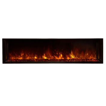"Modern Flames 60"" Built-in Outdoor Electric Fireplace (NOVA-60BS)"