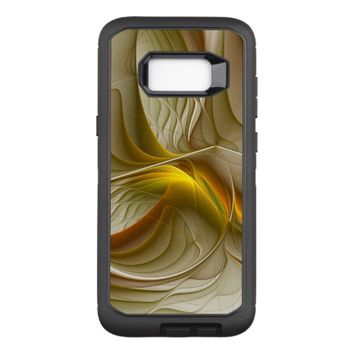 Colors of Precious Metals, Abstract Fractal Art OtterBox Defender Samsung Galaxy S8+ Case